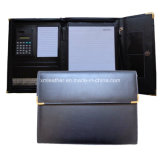 Papeterie de bureau Business Leather Envelop Portfolio with Calulator
