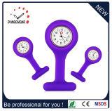 Medische Horloge van de Verpleegster van de Riem van het Silicium van het Kwarts van het Embleem van de Douane van de Vervaardiging van China het In het groot Goedkope Rubber (gelijkstroom-182)