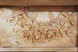 Lado entalhado lareira em mármore terracota Mantel, mármore Bege Local T-6575