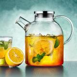 北欧のEroupeanデザインガラスやかん水水差しのガラス茶鍋