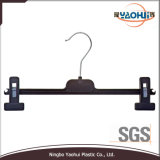 Plastic Pants Hanger with Metal Hook and Removable Bar (4504)