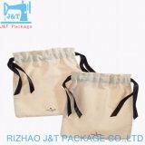 Impression personnalisée de la mousseline de coton Sac avec lacet de serrage