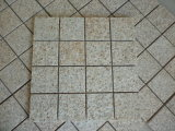 Pavimentazione gialla G682/beige arrugginita/pietra ciottolo/del cubo del granito/Cobblestone di Setts per l'abbellimento/strada privata/patio/giardino/via