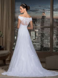 fora de Shoulder Bridal Wedding Gown Lace Tulle Wedding Dress Y21608