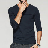 Form der Männer beiläufiger O-Stutzen langes Hülsen-T-Shirt