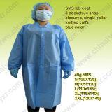 Blouse de laboratoire jetables Ly SMS avec brassard tricotés