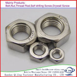 L'acier galvanisé standard de l'écrou à tête hexagonale en acier au carbone DIN934 DIN985