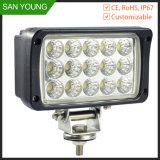 Epistar LED de la viruta 45W, 3825high Lumen trabajo luces LED, 12V, 24V del coche y las luces de camiones, Grandes Cuadrado Mirando Jeep luces