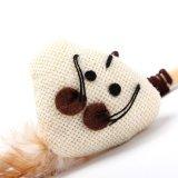 Giocattolo di tela sveglio naturale dell'animale domestico del gatto del bastone del rompicapo della peluche del mouse del mouse di legno