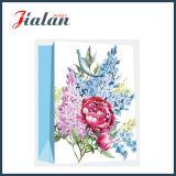 Saco de papel de compra impresso 4c retro do presente do portador do projeto das flores