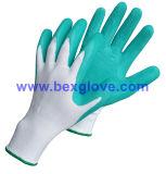 Gant de travail de jardin de couleur, gant en nylon de travail de 13 mesures