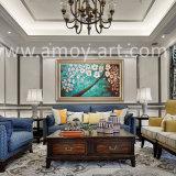 Estirado aceite pesado Flor pinturas al óleo con una agradable textura para la decoración del hogar