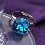 Кольцо перста шарика аквамарина сплава Jewellery Китая кристаллический с большим камнем