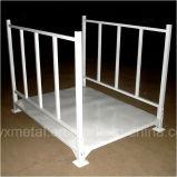 Stillage de aço Stackable do armazenamento do metal da construção da dobradura Foldable para a tela