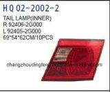 Misure della lampada di coda dei ricambi auto per gli optimum 2005 di KIA. OEM: 92401-2g000/92402-2g000/92405-2g000/92406-2g000