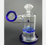 De blauwe Waterpijp van het Glas van de Olie van de Filter van de Cyclus van het Water van het Recycling van de Filter