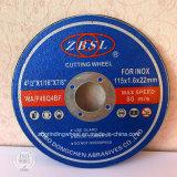 Professionnels de la roue de coupe en acier inoxydable