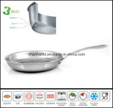 3 Frigideira Ply Frigideira Frite Gourmet Pan