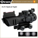 Táctica Militar 1X32 Rojo y Verde DOT vista telescópica de 20 mm con Qd Monte