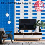 Azulejo auto-adhesivo decorativo del PVC 3D Soundabsorb para el cine