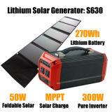 Backup300w steuern Solar Energy Systems-Generatorlithium nachladbare Batterie automatisch an