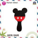 Forma personalizada do OEM do logotipo e espelho de mão redonda bonito da fábrica de China