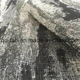 최신 판매 털실에 의하여 염색되는 까만 자카드 직물 직물 (QF16-2512)