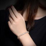 Pulseira nupcial de cristal do bracelete da jóia do ouro da forma da alta qualidade