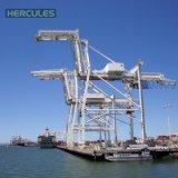 grúa portuaria provista de pneumáticos 60t para el barco que lleva