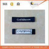 La impresión de la ropa de la ropa de la alta calidad imprimió la escritura de la etiqueta tejida paño de la etiqueta engomada