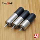 22mm 24V niedrige U/Min Verkleinerung übersetzter Motor für medizinische Pumpe