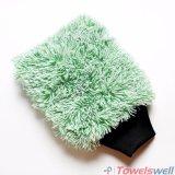 Mitaine de lavage de voiture de peluche de Microfiber