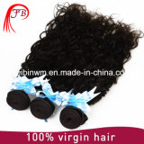 ブラジルの自然な波の黒髪の拡張人間の毛髪のよこ糸