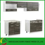 Module de cuisine moderne de portes de compartiments de mini modèle d'élément de Module de cuisine de fini de Wenge