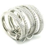 Fabrik-PreisRhodium überzog silbernen Großverkauf des Ring-925 (R10038)