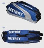 Таможня мешок Backpack ракетки ракетки летучей мыши тенниса 6 пакетов