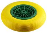 Roda da espuma do plutônio do pneumático 16X4.00-8 para o Wheelbarrow