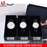 Vs-750 niedrige MOQ klassische Entwurfs-Wasser-beständige lederne Uhr für Mann u. Frau
