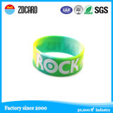 4 Farben-SilikonWristband mit gedrucktem Firmenzeichen