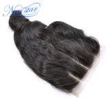 3 parti del Virgin dei capelli di chiusura riccia allentata brasiliana del merletto
