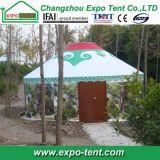 Hôtel Yurt en bois mongol avec le mur de guichet en verre