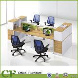 Table de partition en bois de bureau d'usine de meubles de la Chine pour six portées