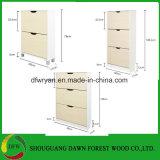 Zwei Tür-Melamin MDF-einfacher Schuh-Schrank/Schuh-Zahnstange/Schuh-Arche für Möbel