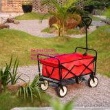 Сверхмощная складная складывая фура тележки сада общего назначения для ходить по магазинам Outdoors, красная