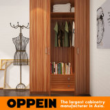 Cabina de cocina de madera de la laca del PVC del grano del diseño del chalet de Oppein (OP16-Villa1)