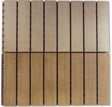 Panneau de mur en bois acoustique d'isolation saine d'OEM pour le matériau de décoration