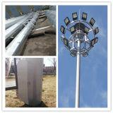 Die Pleuelstange der Strichleiter wird örtlich festgelegt mit dem Stützrahmen des Fabrik-Telekommunikations-Monopole Stahlaufsatzes angeschlossen