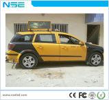 O dobro tomou o partido indicador de diodo emissor de luz móvel de anúncio superior do táxi P2.5 ao ar livre da cor cheia