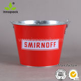 Handleの10qt Square Printed Stainless Steel Ice Bucket