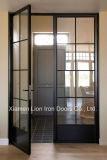 Gitter-Entwurfs-kundenspezifische Stahltüren/bearbeitetes Eisen-Eintrag-Tür